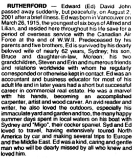 Vancouver Sun, August 8, 2001, page D11; Vancouver Province, August 8, 2001, page C2.