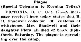 Lewiston Evening Teller (Lewiston, Idaho), October 18, 1904, page 3, column 4.