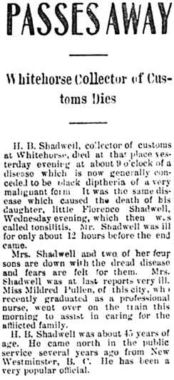 The Daily Alaskan (Skagway, Alaska), October 15, 1904, page 1, column 4; https://chroniclingamerica.loc.gov/lccn/sn82014189/1904-10-15/ed-1/seq-1/.