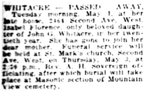 Vancouver Daily World, May 2, 1923, page 10, column 1 [best available copy]