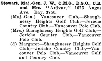 Greater Vancouver Social and Club Register, 1927, page 68.