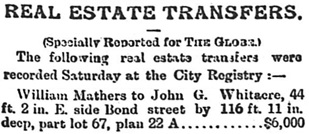 Toronto Globe, February 27, 1888, page 3, column 4 (selected portions).