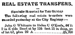 Toronto Globe, April 5, 1888; page 6, column 3 (selected portions).