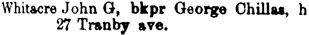 Toronto City Directory, 1890, page 1305, column 2.