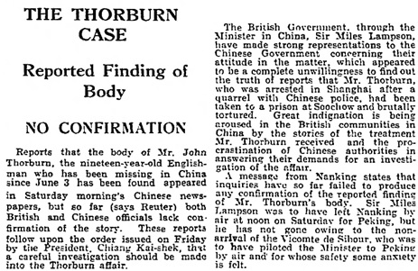 The Guardian (London, England), August 10, 1931, page 10, column 3.