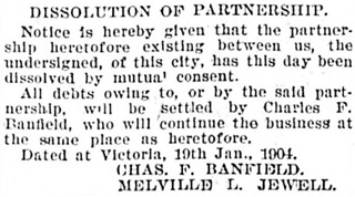Victoria Daily Colonist, January 27, 1904, page 7, column 4; http://archive.org/stream/dailycolonist19040127uvic/19040127#page/n6/mode/1up.