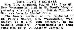 Vancouver Sun, May 9, 1932, page 14, column 2; https://news.google.com/newspapers?id=Hq1lAAAAIBAJ&sjid=0YgNAAAAIBAJ&pg=6034%2C914342 [link leads to column 1; death notice is in column 2].