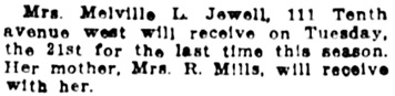 Vancouver Daily World, May 20, 1912, page 9, column 7.