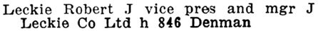 Henderson's City of Vancouver and North Vancouver Directory, 1910, Part 2, page 876.