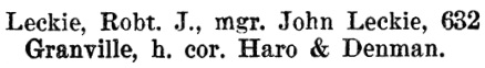 Henderson's BC Gazetteer and Directory, 1898, page 578 (Vancouver).