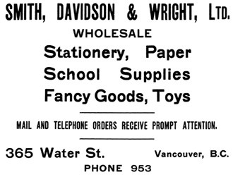 Henderson's City of Vancouver Directory, 1908, page 71.
