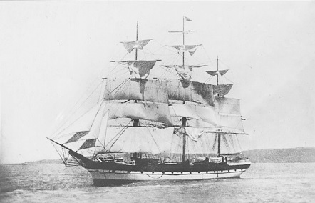 "The ""Western Monarch"" under sail; about 1892; State Library of South Australia; PRG 1373/16/19; https://collections.slsa.sa.gov.au/resource/PRG+1373/16/19."