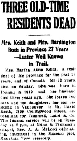 Vancouver Daily World, July 26, 1920, page 13, column 5.