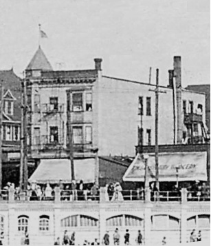 1200 Denman Street, detail from View of English Bay Beach; about 1912, Vancouver City Archives, Be P108; https://searcharchives.vancouver.ca/view-of-english-bay-beach-5.