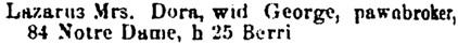 Lovell's Montréal Directory, 1881, page 478, column 2.