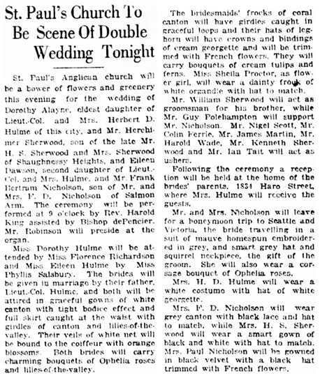 Vancouver Daily World, April 26, 1923, page 7, column 4.