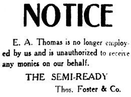 Vancouver Daily World, March 4, 1910, page 34, column 1.