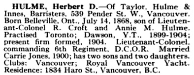 Who's Who in Canada (Who's Who and Why), volumes 6-7; edited by Dr. C.W. Parker; Vancouver, International Press Limited, 1914, page 890; https://books.google.ca/books?id=dy9if3Yix8UC&pg=PA890#v=onepage&q&f=false.