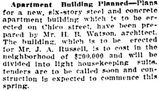 Vancouver Daily World, February 13, 1913, page 24.