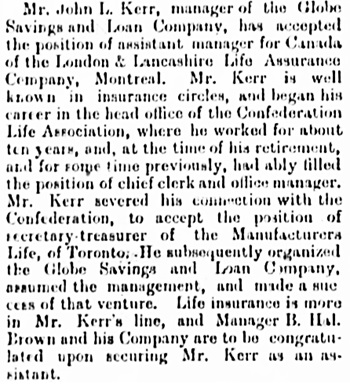The Gazette (Montreal), March 20, 1896, page 2, column 4.