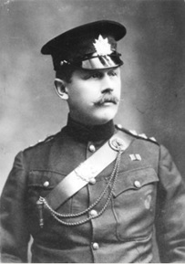 Major H.D. Hulme, Dawson Rifles of Canada, about 1900; Vancouver City Archives, Port P14; https://searcharchives.vancouver.ca/major-h-d-hulme-dawson-rifles-of-canada.