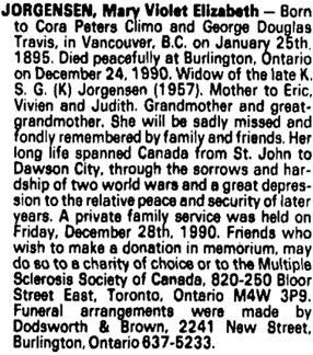Toronto Globe and Mail, December 29, 1990, page E4, column 3.