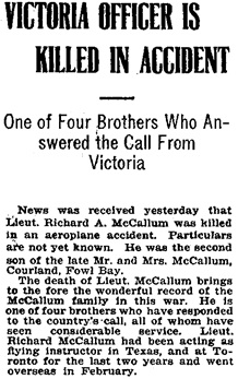 Victoria Daily Times, September 5, 1918, page 7.