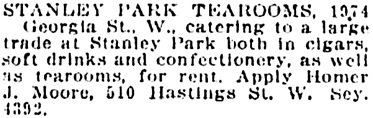 Vancouver Daily World, April 2, 1923, page 10, column 2.
