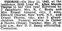 Vancouver Sun, May 14, 1945, page 15.
