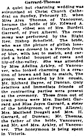 Victoria Daily Colonist, February 24, 1925, page 8, column 6; https://archive.org/stream/dailycolonist0125uvic_46#page/n7/mode/1up.