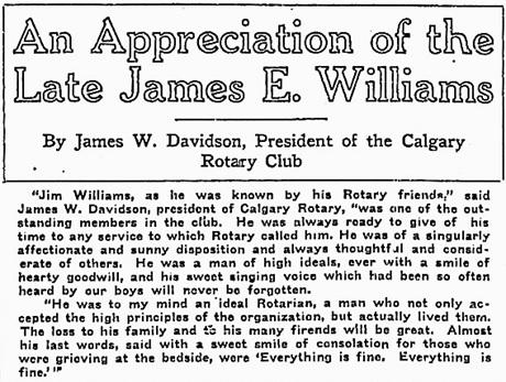 Calgary Herald, October 25, 1919, page 34, columns 4-5; https://news.google.com/newspapers?id=QQ5kAAAAIBAJ&sjid=23oNAAAAIBAJ&pg=1946%2C6871165.