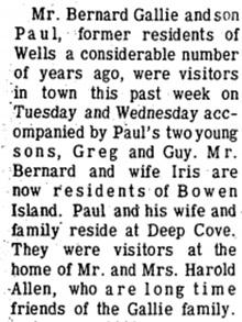 Quesnel Cariboo Observer, September 2, 1970, page 19, Wells-Barkerville; http://www.quesnelmuseum.ca/COA/1970/19700902_Cariboo%20Observer-4.pdf.