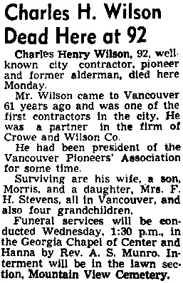 Vancouver Sun, September 23, 1947, page 27.