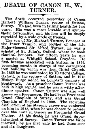 The Times (London, England), June 15, 1922, page 11, column 3.