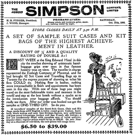 Toronto Globe, October 27, 1906, page 7, columns 5-7.