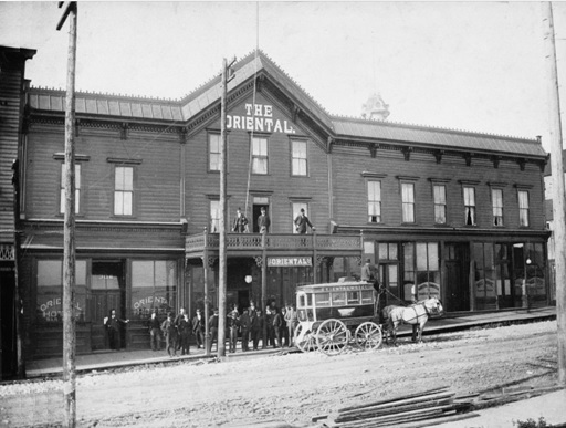 Exterior of the Oriental Hotel - 306 Water Street; 1889, Vancouver City Archives; Hot P50; https://searcharchives.vancouver.ca/exterior-of-oriental-hotel-306-water-street.