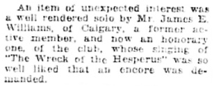 """Fitting Farewell to Departing Organist; Frank Wrigley is Honored by Men's Musical Club,"" Vancouver Daily World, August 12, 1919, page 7, columns 1-2."