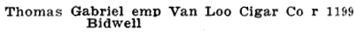 Henderson's Greater Vancouver Directory, 1923, page 1238 [edited image].