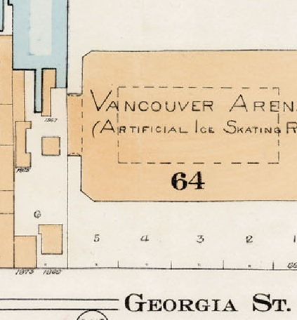 Goad's Atlas of the City of Vancouver, British Columbia and surrounding municipalities in four volumes. Volume One, July 1912, plate 7 (detail). Lot 6, Block 64, District Lot 185, Group 1, New Westminster District, Plan 92.