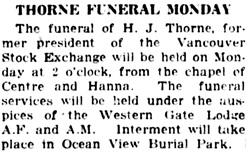 Vancouver World, June 9, 1923, page 3, column 3.