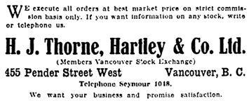 Vancouver Daily World, October 6, 1917, page 16, columns 6-7.