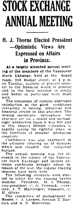 Vancouver Daily World, July 10, 1918, page 11, column 3.