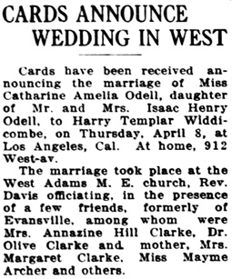 Evansville Press (Evansville, Indiana), April 13, 1915, page 1, column 4.
