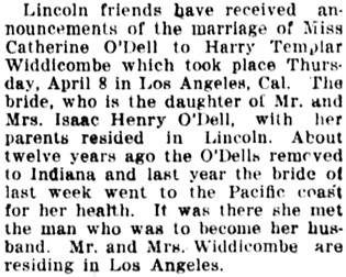 The Nebraska State Journal (Lincoln, Nebraska), April 13, 1915, page 9, column 2.