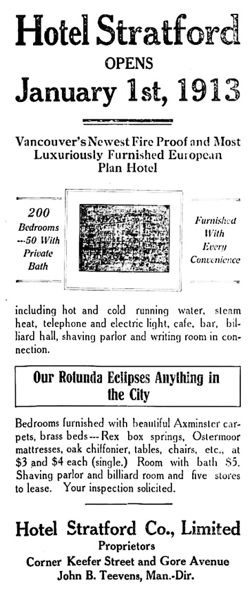 Vancouver Daily World, December 23, 1912, page 12, columns 5-7.