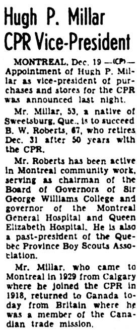 The Ottawa Journal, December 19, 1957, page 47, column 7.