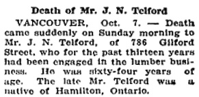 Victoria Daily Colonist, October 8, 1919, page 5, column 7; https://archive.org/stream/dailycolonist61y252uvic#page/n2/mode/1up.