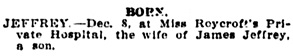 Vancouver Daily World, December 9, 1908, page 18, column 5.