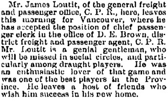 Manitoba Free Press (Winnipeg, Manitoba); July 30, 1887, page 4, column 2.