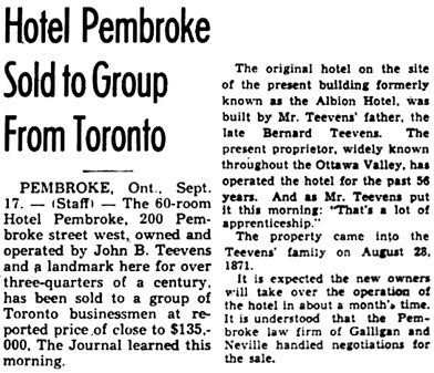 The Ottawa Journal, September 17, 1948, page 8, columns 7-8.